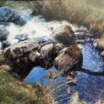 welsh stream oil painting