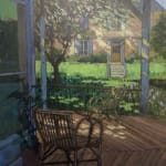 Welsh garden painting with chair