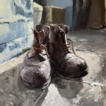painting of old boots