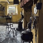 welsh interior oil painting