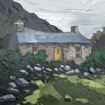 Welsh landscape oil painting
