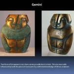 Bronze Gemini sculpture