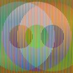Carlos Cruz-Diez, Transchromie á six elements , 1965-2010