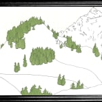 anna-stemmer-dworak drawing of a mountain covered in snow and some green trees