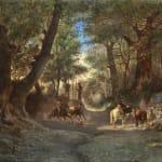 Paesants in a wood near Rome