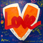 royal love heart painting HRH Princess Eugenie hrh princess Beatrice Teddy McDonald artist red white blue orange