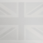 Peter Blake - Union Flag - Black and white Union Flag with a white boarder and a signature in the bottom right hand side
