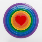 Peter Blake - Rainbow Target - Target with heart as the bullseye surrounded by rainbow colours with a glossy Finish