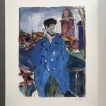Bob Dylan, Man On A Bridge (blue), 2008