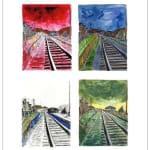 Bob Dylan, Train Tracks (set of 4), 2010