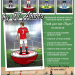 JJ Adams, 'He Shoots....He Scores' (Subbuteo Players / Personalised), 2019
