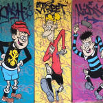Opake One, Bash Street Bombers - Triptych, 2019