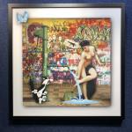 Roberta Roman, Graffiti Nude with Sylvester, 2019