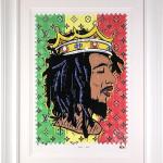 JJ Adams, Get Up - Bob Marley /Rock Icon Stamp, 2020