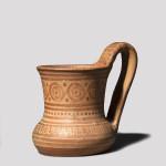 Greek Geometric cup with strap handle, Geometric Period, c.8th Century BC