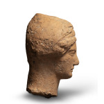 Greek head of a woman, perhaps Omphale, Medma, third quarter of the 5th century BC