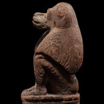 Egyptian statuette of a baboon, Late Dynastic Period, 25th-31st Dynasty, c.747-332 BC