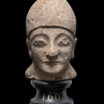 Cypriot male head, Late Cypro-Archaic - early Cypro-Classical Period, first half of the 5th century BC