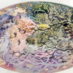 Kate Collins MAFA, Hares (Large Dish)