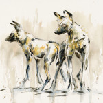 Julia Cassels, Wild Dogs II (Hungerford Gallery)
