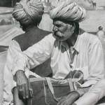 Mark Clark, Two Rajasthani Men, Pushkar Camel Fair London Gallery)