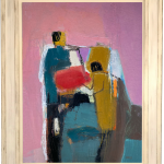 Dafila Scott, Figures on Pink (Hungerford Gallery)