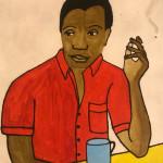Kate Boxer, James Baldwin (Mounted)