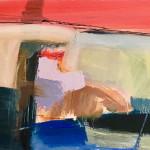 Dafila Scott, Red Sky, Green Hill (London Gallery)