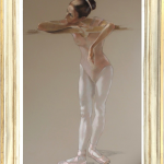 Katya Gridneva, Dancer in Pink Leotard (Hungerford Gallery)