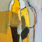 Two Figures on Yellow (London Gallery)