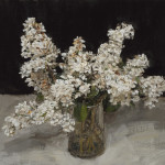 White Lilac in a Glass Jug