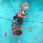 Lisa Sharpe Paintings, Warm Blue Seas, Colour Explosion