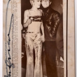 """""""Andy and Edie Sedgewick"""" signed photo, stamped."""