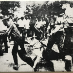 Andy Warhol, Little Race Riot, silkscreen ink on canvas. , 1964
