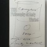 """Campbell´s soup can drawing in book"""