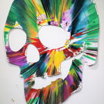 Skull Spin Painting SIGNED