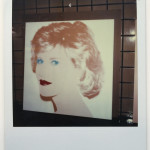 Unique polaroid of Jane Fonda painting vers. 2