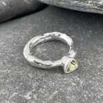 Marsha Drew, Rockpool Rustic Ring with Small Trillion Lemon Quartz