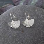 Marsha drew, Half Moon Spiral Earrings