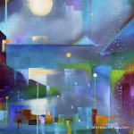 Suki Wapshott, Lamplight on a Rainy Night