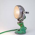Narrow boat spot light lamp with Spong mincer base