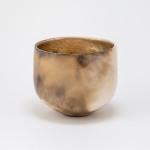 Smoke fired porcelain vessel