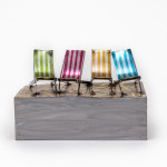 Kerry Whittle, Four Deckchairs on a Block