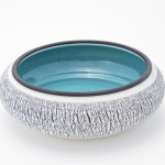 Black and White Turquoise Bowl