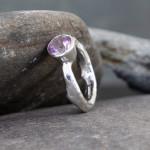 Marsha Drew, Rockpool Rustic Ring with Large Lilac Amethyst