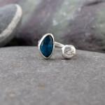 Marsha Drew, Pebble Ring with Moss Kyanite