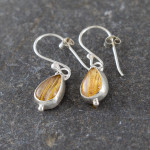 Marsha drew, Morwen Drop Earrings Golden Rutilated Quartz