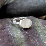 Marsha Drew, ROCKPOOL RUSTIC RING WITH XLARGE OVAL FACETED MOONSTONE