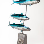 Kerry Whittle, Three Fishes on a Block
