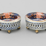 A PAIR OF RETICULATED CHINESE SALTS, Qianlong (1736-1795)
